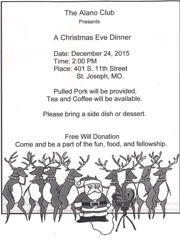 Alano Christmas Dinner announcement 2015 001